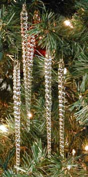 glass icicle christmas ornaments made in usa - Icicle Christmas Decorations
